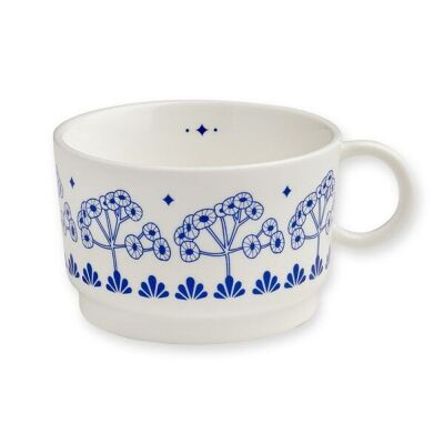 Teetasse LEAVES| blau