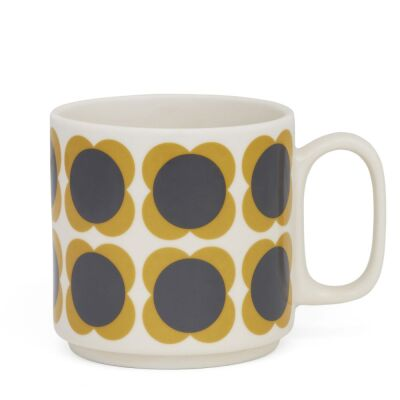 Mug Larg Flower Spot Yellow