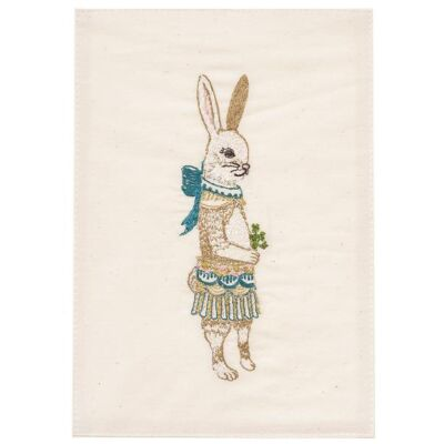 Artwork Postkarte LADY RABBIT