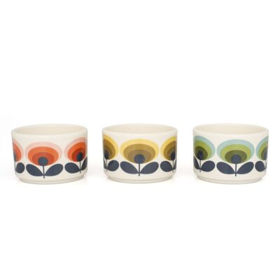 Mini Bowls 70s Flower Set of 3