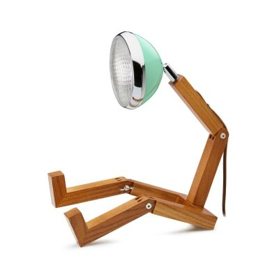 MR WATTSON Original Table Lamp, G9 LED, Ash - Tiffany Green