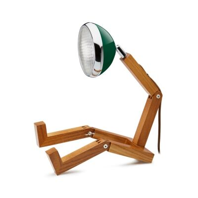 MR WATTSON Original Table Lamp, G9 LED, Ash - Chiltern Green