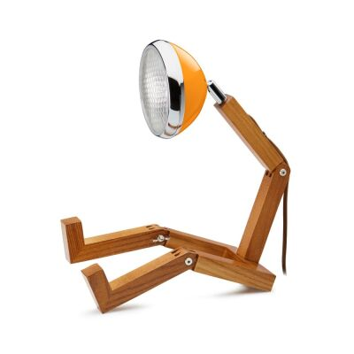 MR WATTSON Original Table Lamp, G9 LED, Ash - Mclaren Orange