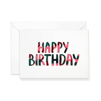 Greeting Card | Happy Birthday (cerise)