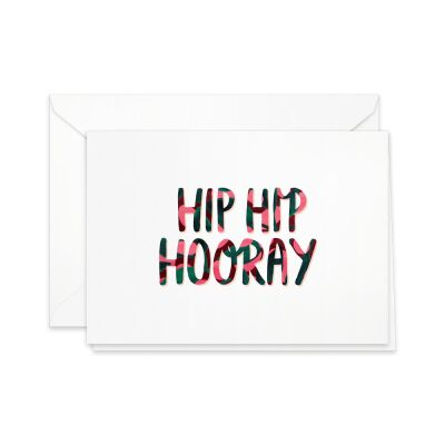 Greeting Card | hip hip hooray
