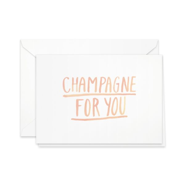 Greeting Card | champagne for you