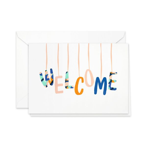Greeting Card | welcome, baby mobile