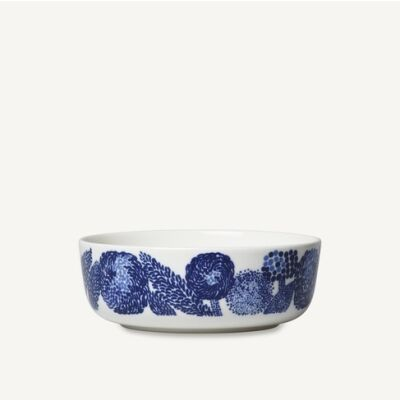 Oiva/Mynsteri  bowl 4 dl white, blue