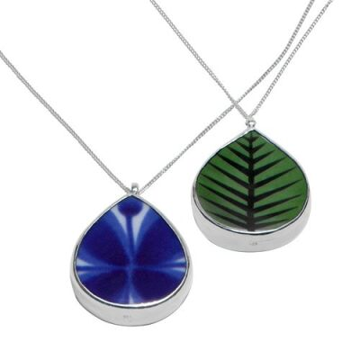 Bersä/Mon Amie Duo Necklace -Reversible porcelain...