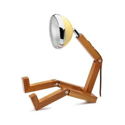 MR WATTSON Original Table Lamp, G9 LED, Ash - Light Yellow